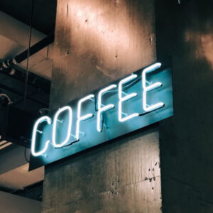 "neon ""Coffee"" sign"