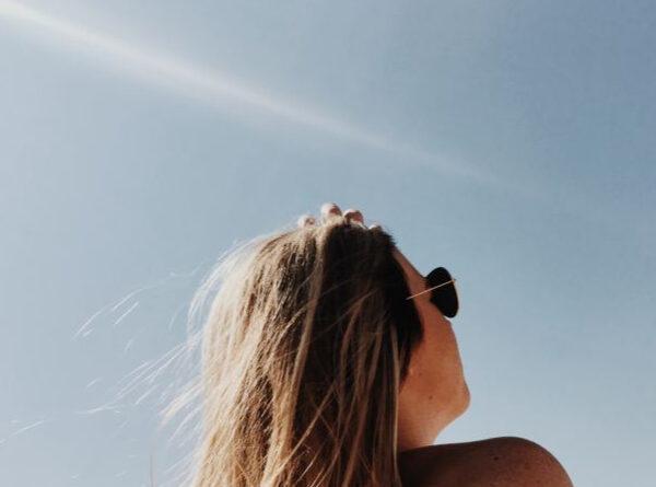 Woman enjoying sunlight